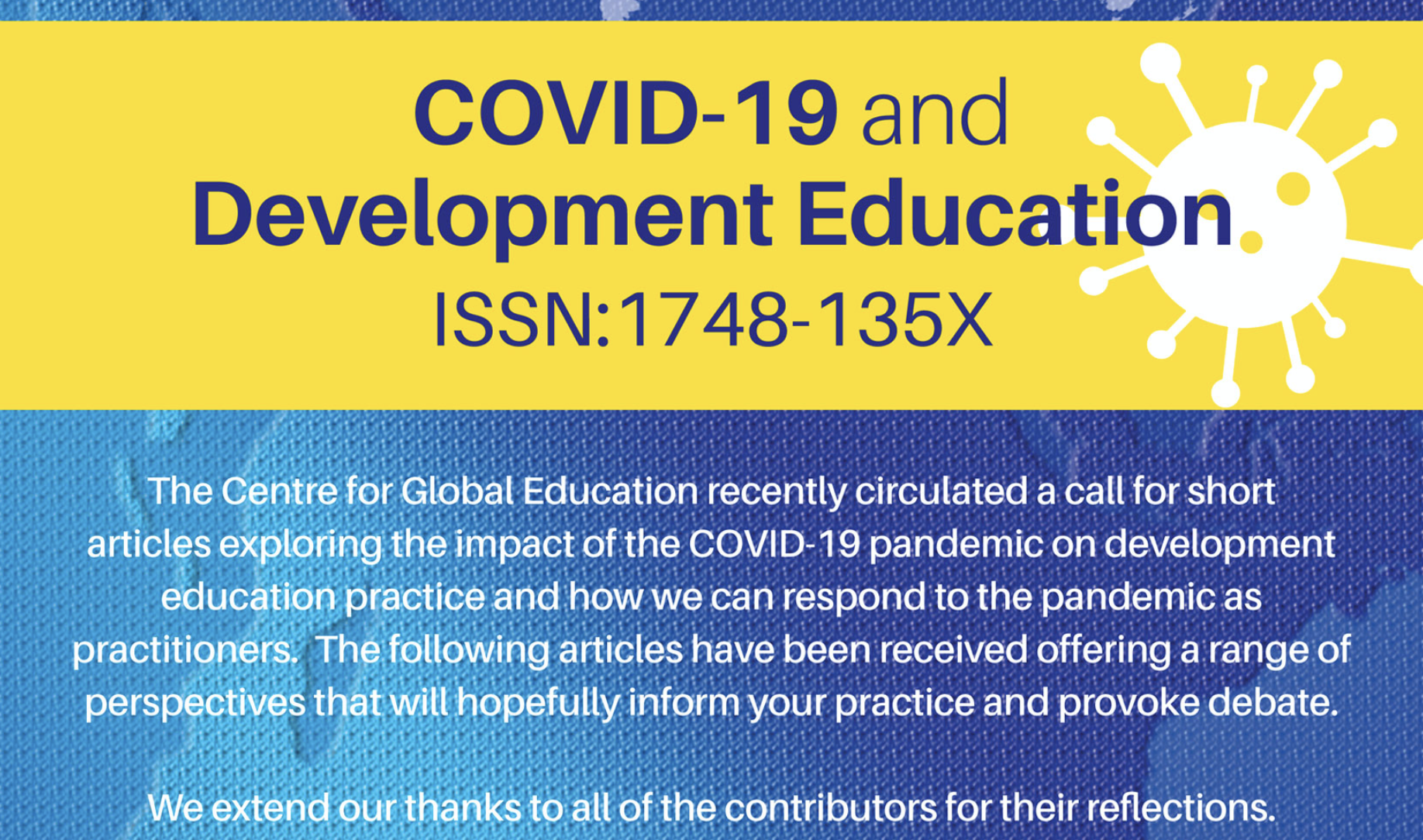 COVID-19 and Development Education